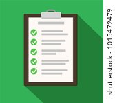 clipboard with checklist on... | Shutterstock .eps vector #1015472479