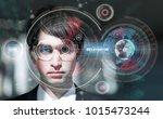 smart glasses concept....   Shutterstock . vector #1015473244