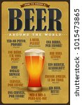 how to order a beer vintage... | Shutterstock .eps vector #1015473865
