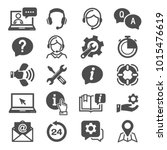 support and service icons... | Shutterstock .eps vector #1015476619