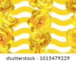 seamless pattern with fluffy... | Shutterstock .eps vector #1015479229