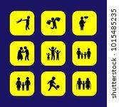 humans vector icon set.... | Shutterstock .eps vector #1015485235
