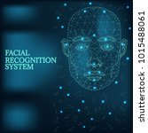 illustration of human face... | Shutterstock .eps vector #1015488061