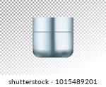 mock up cosmetic realistic blue ... | Shutterstock .eps vector #1015489201