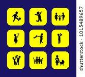 humans vector icon set. baby ... | Shutterstock .eps vector #1015489657