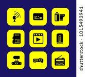 technology vector icon set....   Shutterstock .eps vector #1015493941