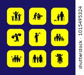 humans vector icon set. big... | Shutterstock .eps vector #1015495324