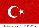 flag of turkey in low poly... | Shutterstock .eps vector #1015497205