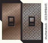 luxury cards. vector menu... | Shutterstock .eps vector #1015498645