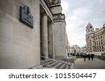 london  january  2018  entrance ...   Shutterstock . vector #1015504447