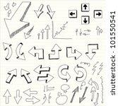 a hand drawn arrows set | Shutterstock .eps vector #101550541