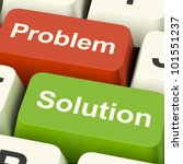 problem and solution computer... | Shutterstock . vector #101551237