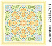 colorful ornament with frame on ...   Shutterstock .eps vector #1015517641