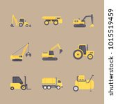 icons construction machinery... | Shutterstock .eps vector #1015519459
