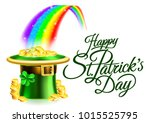 a happy st patricks day... | Shutterstock .eps vector #1015525795