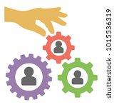 organization development flat... | Shutterstock .eps vector #1015536319