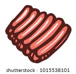 ribs pack icon | Shutterstock .eps vector #1015538101