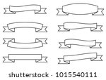 vector set of banners ribbons...