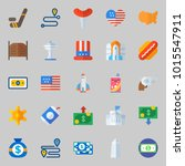 icons about united states with... | Shutterstock .eps vector #1015547911
