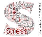 vector conceptual mental stress ... | Shutterstock .eps vector #1015549735