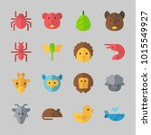 icons about animals with... | Shutterstock .eps vector #1015549927