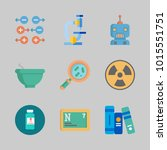 icons about science with mortar ... | Shutterstock .eps vector #1015551751