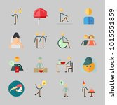 icons about human with eather ... | Shutterstock .eps vector #1015551859