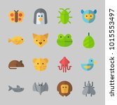 icons about animals with owl ... | Shutterstock .eps vector #1015553497