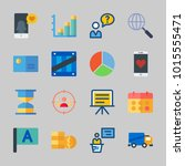 icons about business with flag  ... | Shutterstock .eps vector #1015555471