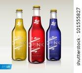 bottles with different drinks ...   Shutterstock .eps vector #101555827