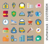 icons travel with closk ... | Shutterstock .eps vector #1015558834