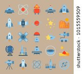 icons universe with circles ... | Shutterstock .eps vector #1015559509
