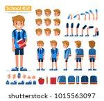 school boy character... | Shutterstock . vector #1015563097