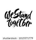 we stand together.... | Shutterstock .eps vector #1015571779