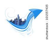 citi with arrow | Shutterstock .eps vector #101557435