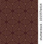 geometric repeating ornament... | Shutterstock . vector #1015576414