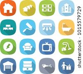 flat vector icon set   home...