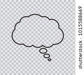 dream cloud black color... | Shutterstock .eps vector #1015588669