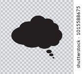 dream cloud black color... | Shutterstock .eps vector #1015588675