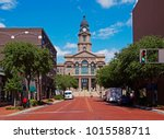 Small photo of Fort Worth 'Tarrant County Courthouse' is a Renaissance revival style government campus built in Probst Construction Company of Chicago, 1893-95