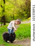 cute little girl playing with... | Shutterstock . vector #101558911