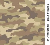 camouflage seamless pattern.... | Shutterstock .eps vector #1015590061