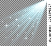 rays of light with stars ... | Shutterstock .eps vector #1015598827