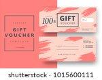 abstract gift voucher card... | Shutterstock .eps vector #1015600111