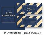 abstract gift voucher card...   Shutterstock .eps vector #1015600114