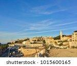 sunset in tel aviv in israel   Shutterstock . vector #1015600165