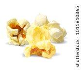 tasty popcorn. elements for... | Shutterstock .eps vector #1015610365