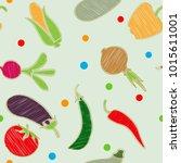 vegetable set. vector. corn ...   Shutterstock .eps vector #1015611001