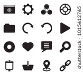 solid black vector icon set  ... | Shutterstock .eps vector #1015612765