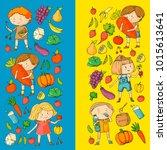 children. school and...   Shutterstock .eps vector #1015613641